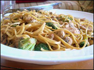 Chicken Lo Mein, Average Restaurant