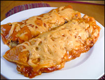 HG's Lean Bean Cheesy Enchiladas