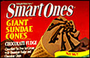 Smart Ones Giant Sundae Cones - Chocolate Fudge