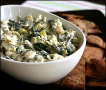 HG's Crazy-Creamy Spinach Artichoke Dip
