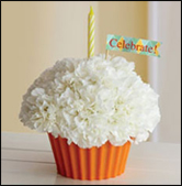 One Cupcake... Extra Flower!