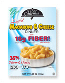 FiberGourmet Light Macaroni & Cheese Dinner