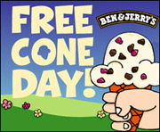 Free Ice Cream Cones = Happiness.