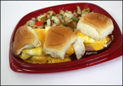 Ruby's Diner Breakfast Sliders with Canadian Bacon