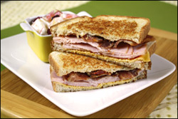 HG's Grilly Girl Cheesy Turkey & Bacon 'Wich