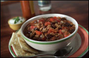 Insanely awesome chili.