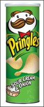 Pringles Potato Chips, Sour Cream & Onion