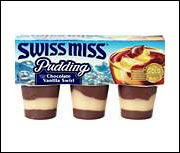 Swiss Miss Pudding Cups, Chocolate & Vanilla Swirl