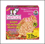 No Pudge! Giant Strawberry Shortcake Bar