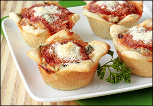 Hungry Girl's Healthy Mini Deep Dish Pizzas
