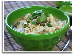 Hungry Girl's Thai-Oh-My Coconut Chicken Noodle Soup