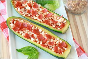 Hungry Girl's Zucchini Pizza Boats
