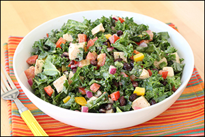 Hungry Girl's Southwest Chicken Kale Salad