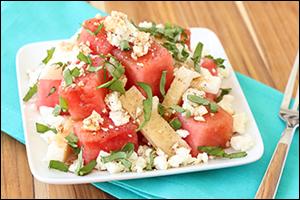 Hungry Girl's Happy Jicama Watermelon Salad