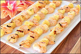 Hungry Girl's Sweet Heat Shrimp & Pineapple Skewers
