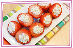 Hungry Girl's Strawberries + Crumbled Reduced-Fat Feta Cheese