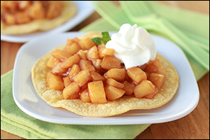 Hungry Girl's Apple Pie Tostadas