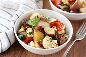 Hungry Girl's Warm Roasted Veggie Potato Salad