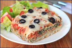 Hungry Girl's Deep-Dish Pizza Casserole