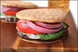 Hungry Girl's Italian Eggplant Melt Sandwiches