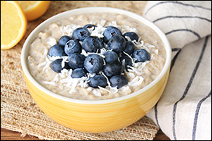 Hungry Girl's Lemon Coconut Blueberry Oatmeal
