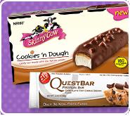 Cookie-dough ice cream & protein bars