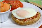 Egg-Topped Waffle