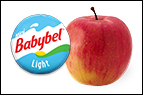 Mini Babybel + Fuji apple