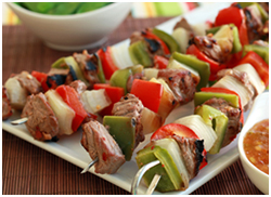 Hungry Girl's Asian Steak Kebabs