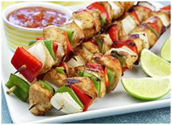 Hungry Girl's Chicken Fajita Kebabs