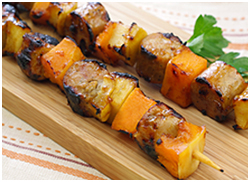 Hungry Girl's Grilled Apple 'n Squash Sausage Kebabs