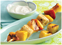 Hungry Girl's Grilled Juicy Fruit Kebabs & Dip