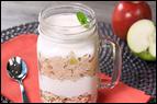 Mini Meals vs. Three Square Meals: Apple Pie Overnight Oatmeal Parfait