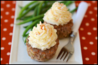 Mini Meals vs. Three Square Meals: Mashie-Topped Meatloaf Cupcakes