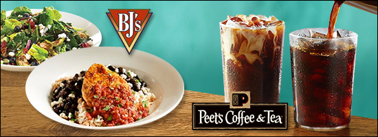 New Menu Picks at BJ's Restaurant & Brewhouse and Peet's Coffee & Tea