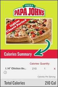 Papa John's Lighter Choices Pizza