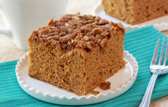 Low Calorie Christmas Cake Recipes: Healthy Coffee Cake Recipe, Pumpkin Streusel Coffee Cake