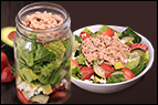 Fruit 'n Feta Tuna Salad in a Jar