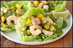 Avocado-Shrimp Lettuce Cups