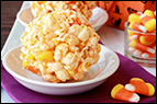 Candy Corn Popcorn Balls Recipe
