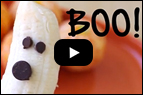 Recipe Video: Banana Ghosts & Tangerine Pumpkins
