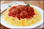 3-Ingredient Spaghetti Squash & Meatballs Recipe