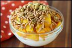 Peach Mango Bowl with Pistachios