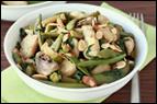 Chicken & Veggies Stir-Fry with Almonds