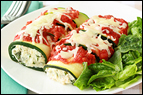 Cheese Manicotti with Zucchini