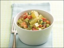 how many calories are in a cup of potato salad