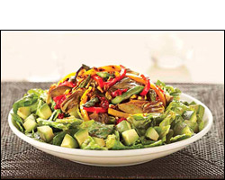 CPK's Roasted Vegetable Salad with Grilled Chicken Breast