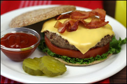 HG's Classic Cheese 'n Bacon Burger