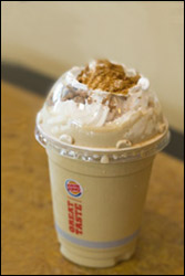 Burger King's Gingerbread Cookie Shake
