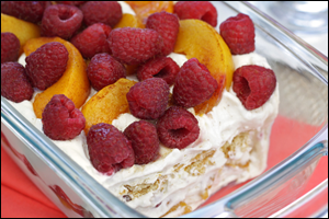 HG's Scoopy Peach-Berry Icebox Cake